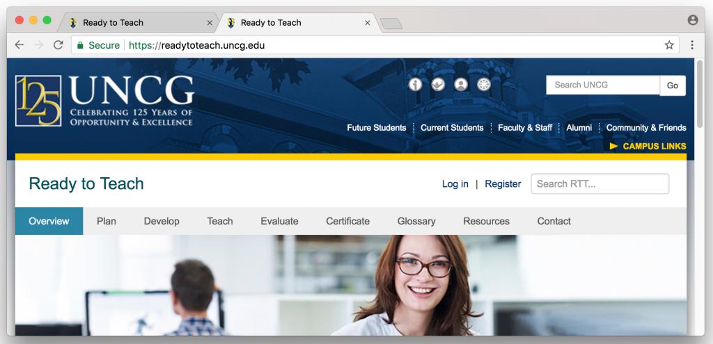 screenshot of internet browser displaying two tabs